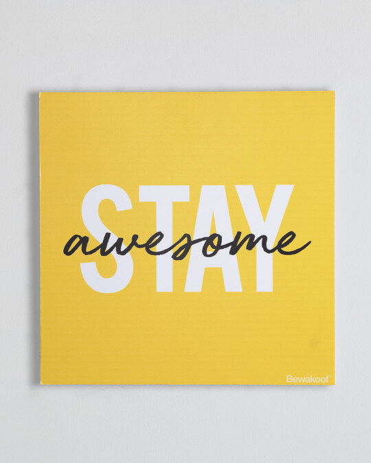 "Shop Stay Awesome Graphic Board -12""x12"" Multicolor-Front"
