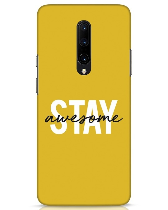 Shop Stay Awesome OnePlus 7 Pro Mobile Cover-Front