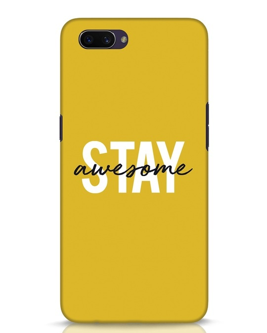 Shop Stay Awesome Oppo A3S Mobile Cover-Front