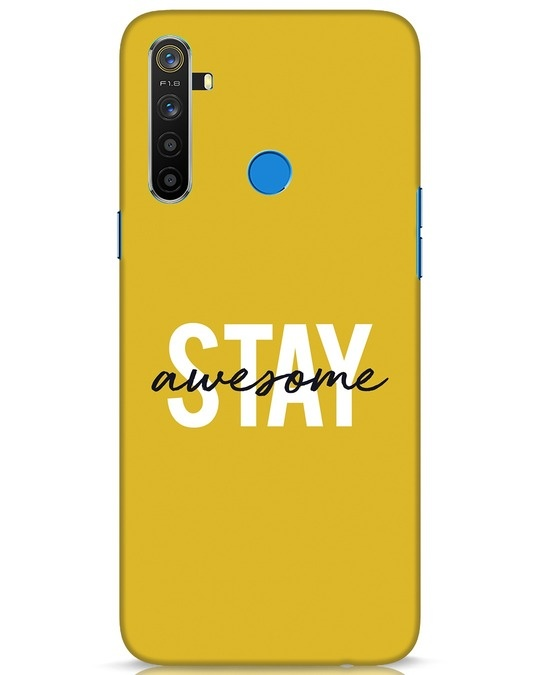 Shop Stay Awesome Realme 5 Mobile Cover-Front