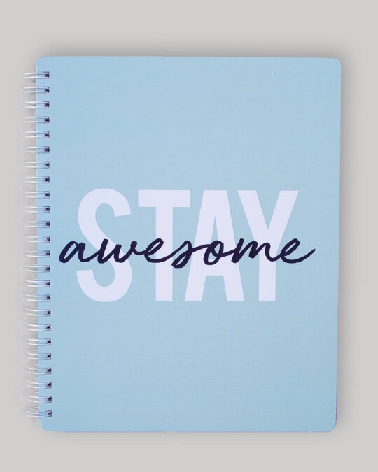 Shop Stay Awesome Spiral Notebook-Front
