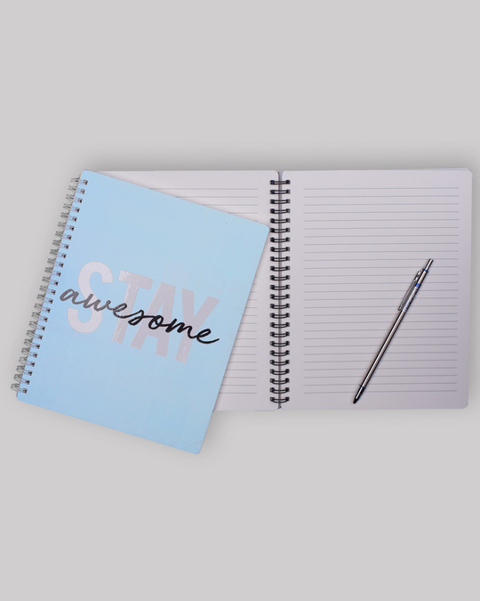 Shop Stay Awesome Spiral Notebook-Back