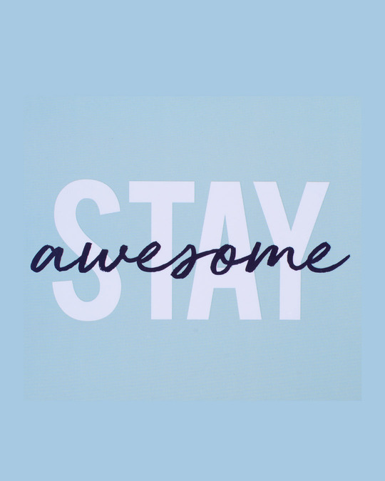 Shop Stay Awesome Spiral Notebook