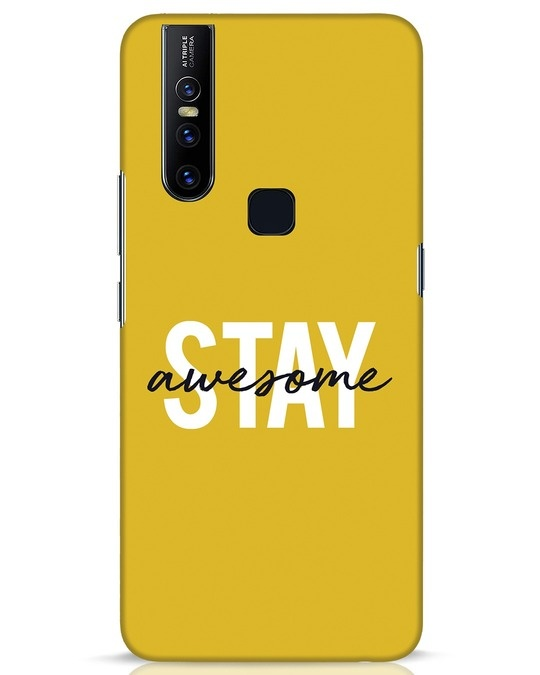 Shop Stay Awesome Vivo V15 Mobile Cover-Front