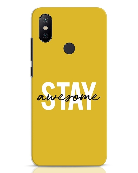 Shop Stay Awesome Xiaomi Mi A2 Mobile Cover-Front