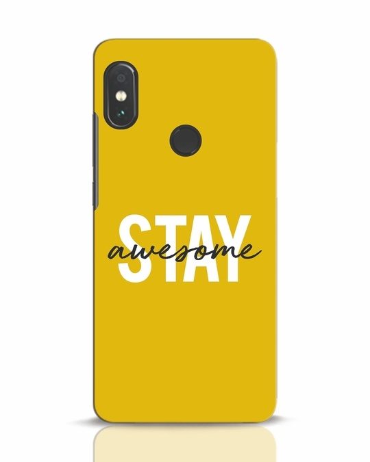 Shop Stay Awesome Xiaomi Redmi Note 5 Pro Mobile Cover-Front