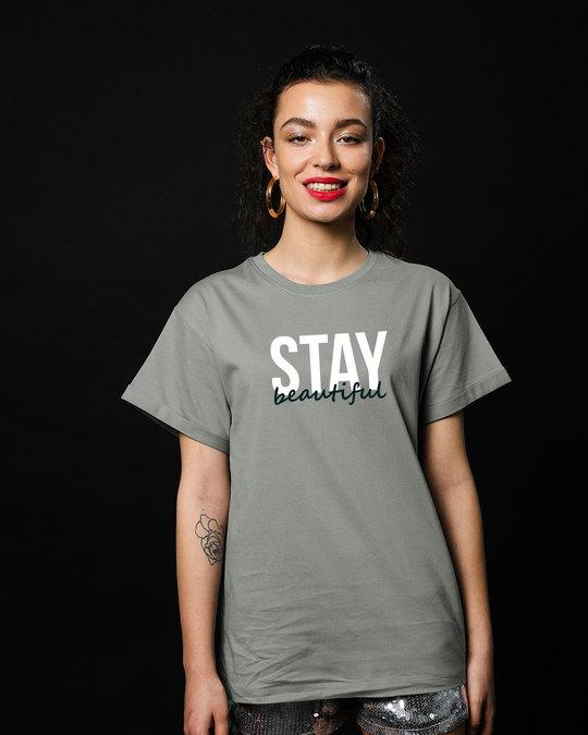 Shop Stay Beautiful Boyfriend T-Shirt-Front