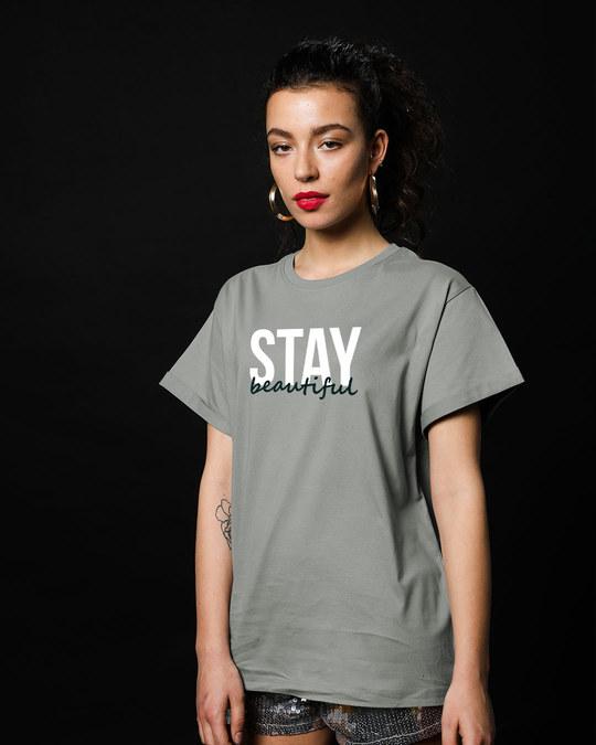 Shop Stay Beautiful Boyfriend T-Shirt-Back