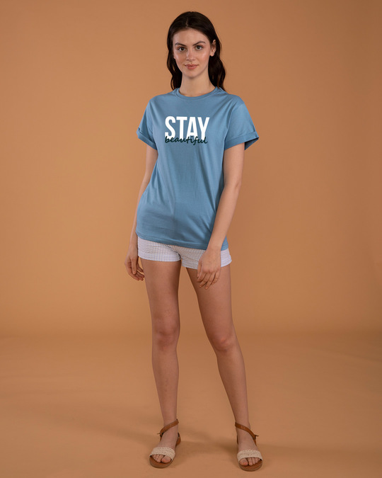 Shop Stay Beautiful Boyfriend T-Shirt-Full