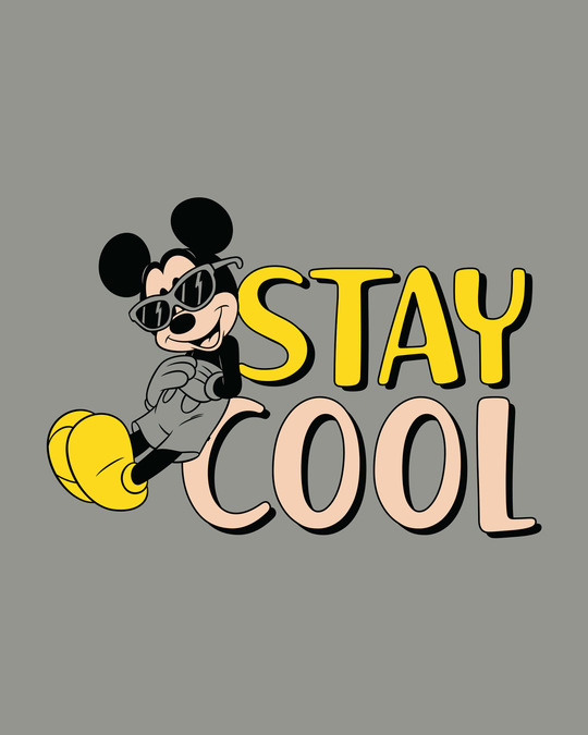 Shop Stay Cool Mickey Round Neck 3/4th Sleeve T-Shirt (DL)