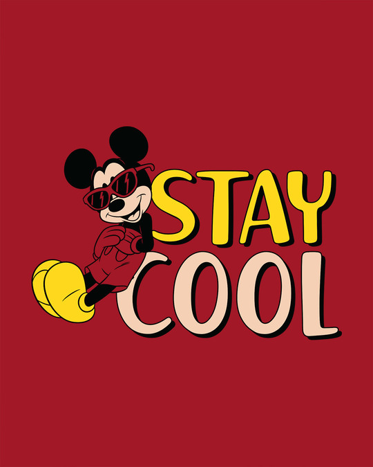 Shop Stay Cool Mickey Scoop Neck Full Sleeve T-Shirt (DL)