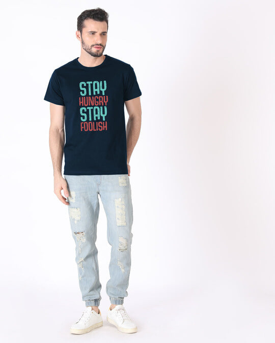 Shop Stay Foolish Half Sleeve T-Shirt