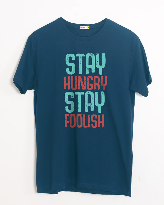 Shop Stay Foolish Half Sleeve T-Shirt-Front