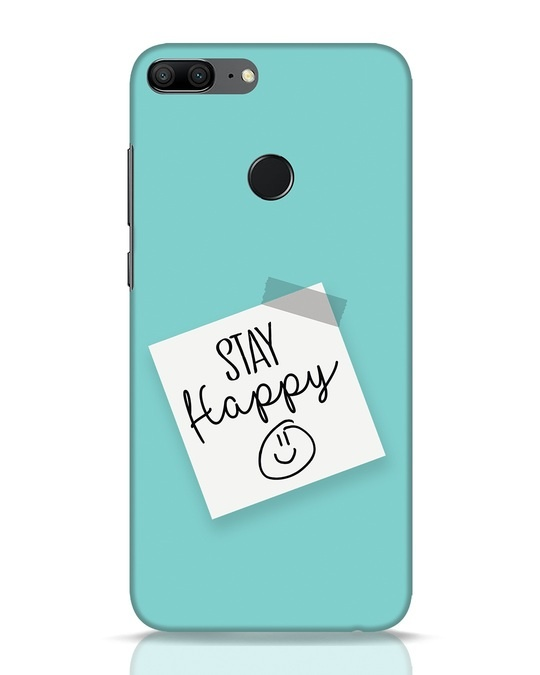 Shop Stay Happy Smile Huawei Honor 9 Lite Mobile Cover-Front