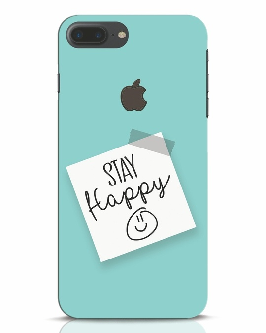 Shop Stay Happy Smile iPhone 7 Plus Logo Cut Mobile Cover-Front