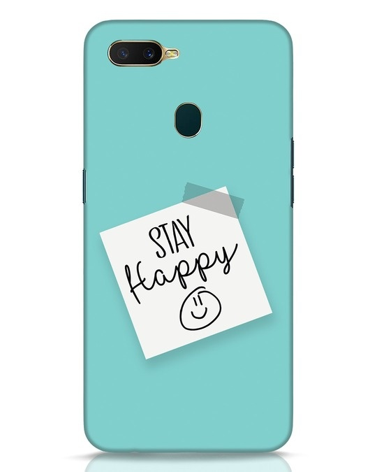 Shop Stay Happy Smile Oppo A7 Mobile Cover-Front