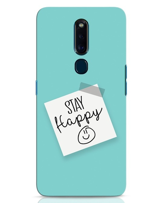 Shop Stay Happy Smile Oppo F11 Pro Mobile Cover-Front