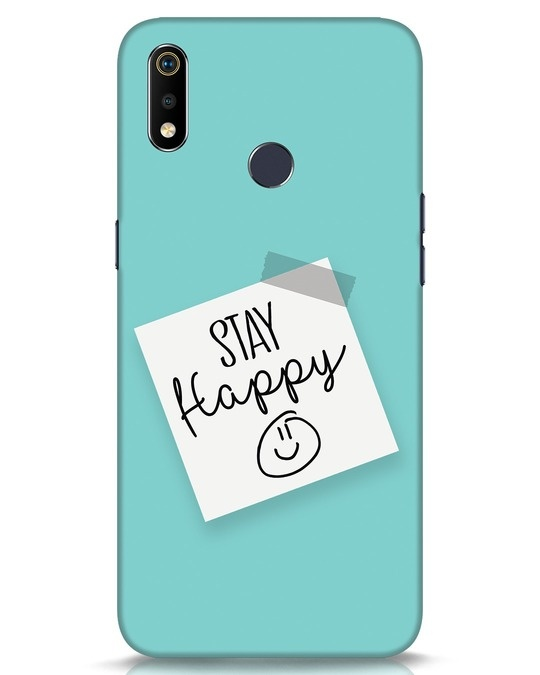 Shop Stay Happy Smile Realme 3i Mobile Cover-Front