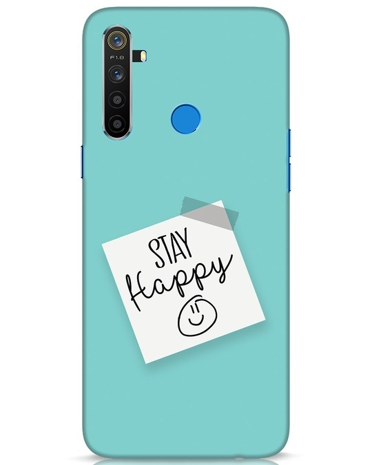 Shop Stay Happy Smile Realme 5 Mobile Cover-Front