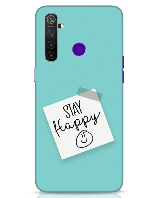 Shop Stay Happy Smile Realme 5 Pro Mobile Cover-Front