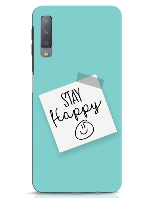 Shop Stay Happy Smile Samsung Galaxy A7 Mobile Cover-Front