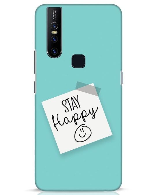 Shop Stay Happy Smile Vivo V15 Mobile Cover-Front
