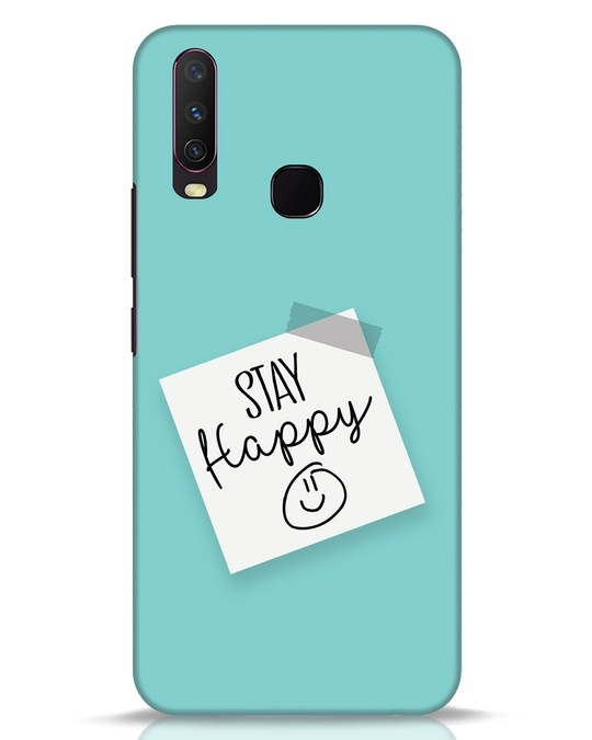 Shop Stay Happy Smile Vivo Y17 Mobile Cover-Front