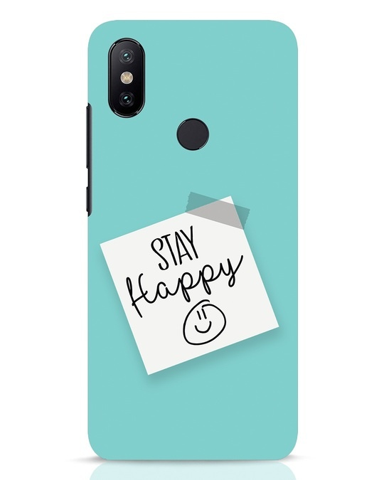 Shop Stay Happy Smile Xiaomi Mi A2 Mobile Cover-Front