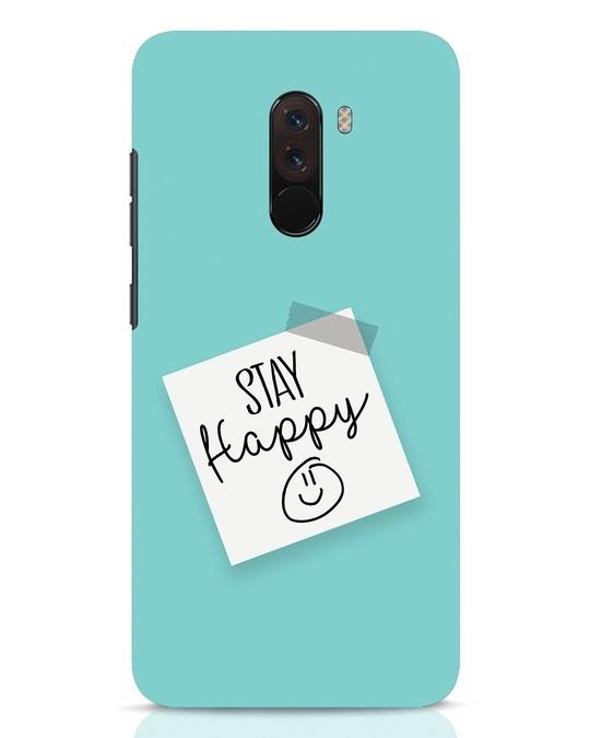 Shop Stay Happy Smile Xiaomi POCO F1 Mobile Cover-Front