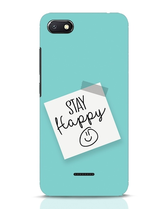 Shop Stay Happy Smile Xiaomi Redmi 6A Mobile Cover-Front