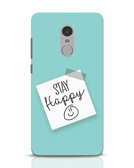 Shop Stay Happy Smile Xiaomi Redmi Note 4 Mobile Cover-Front