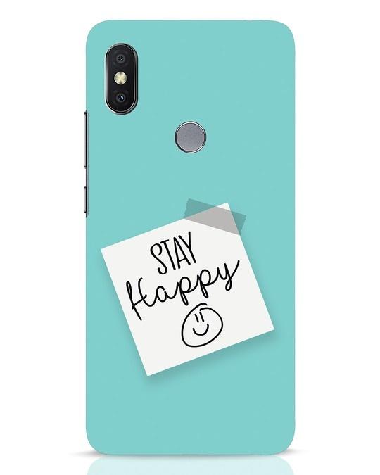 Shop Stay Happy Smile Xiaomi Redmi Y2 Mobile Cover-Front