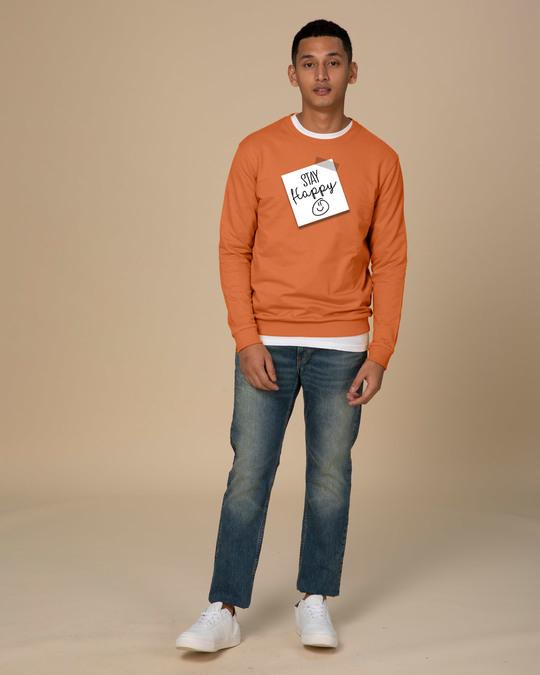 Shop Stay Happy Smiley Fleece Sweater-Full