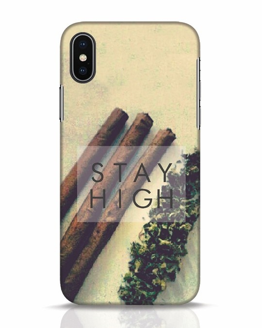 Shop Stay High iPhone X Mobile Cover-Front