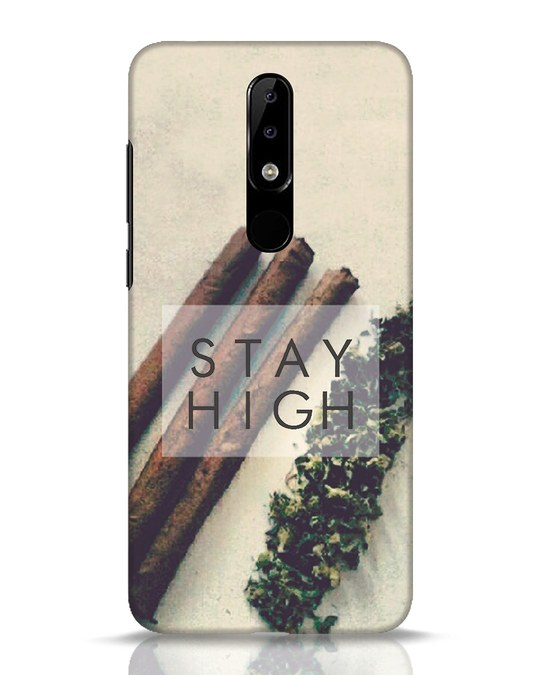 Shop Stay High Nokia 5.1 Plus Mobile Cover-Front