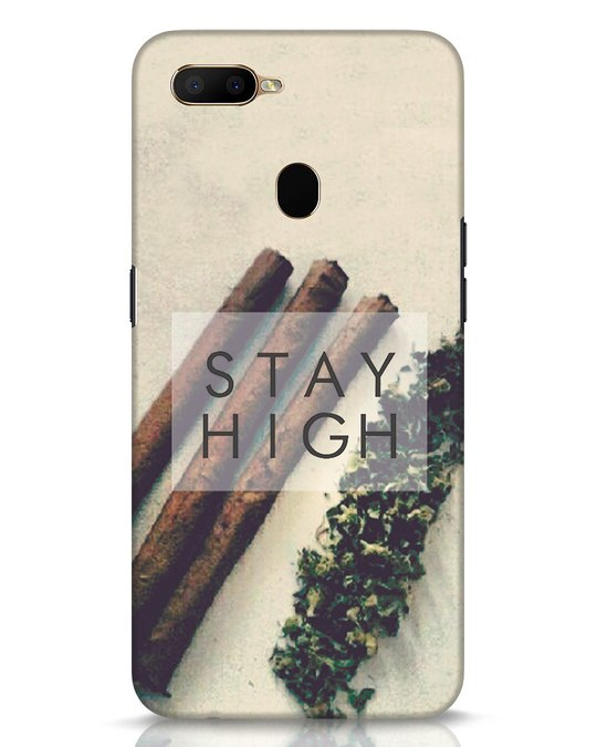 Shop Stay High Oppo A5s Mobile Cover-Front