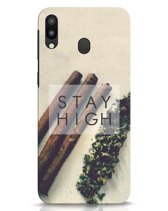 Shop Stay High Samsung Galaxy M20 Mobile Cover-Front