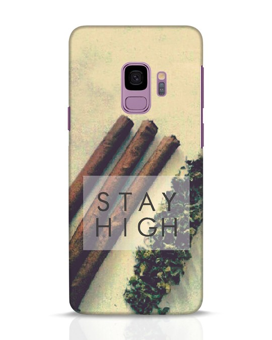 Shop Stay High Samsung Galaxy S9 Mobile Cover-Front