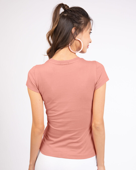 Shop Stay Home And Chill Half Sleeve T-Shirt Misty Pink-Back