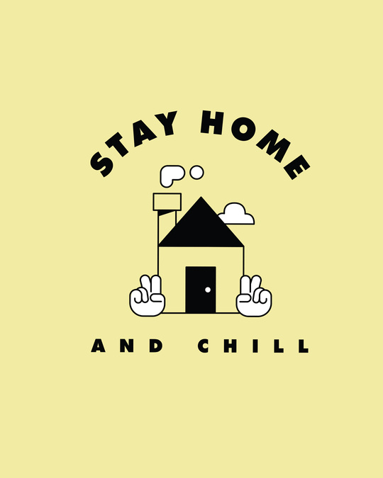 Shop Stay Home And Chill Boyfriend T-Shirt Pastel Yellow-Full
