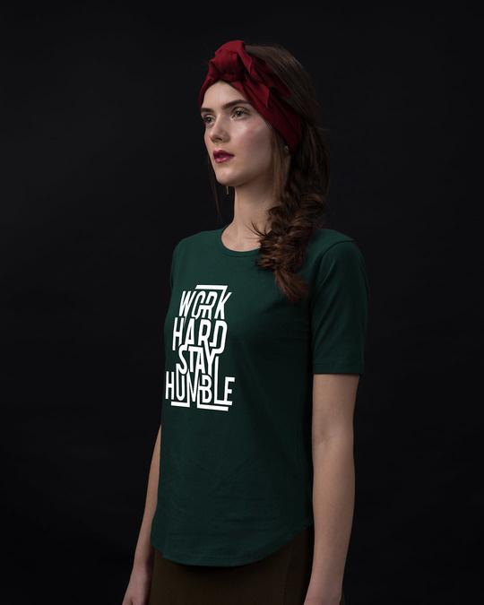 Shop Stay Humble Basic Round Hem T-Shirt-Back