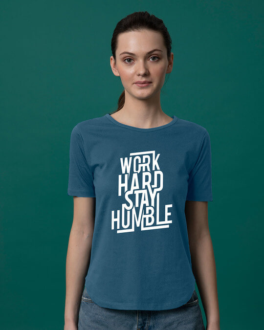 Shop Stay Humble Basic Round Hem T-Shirt-Front