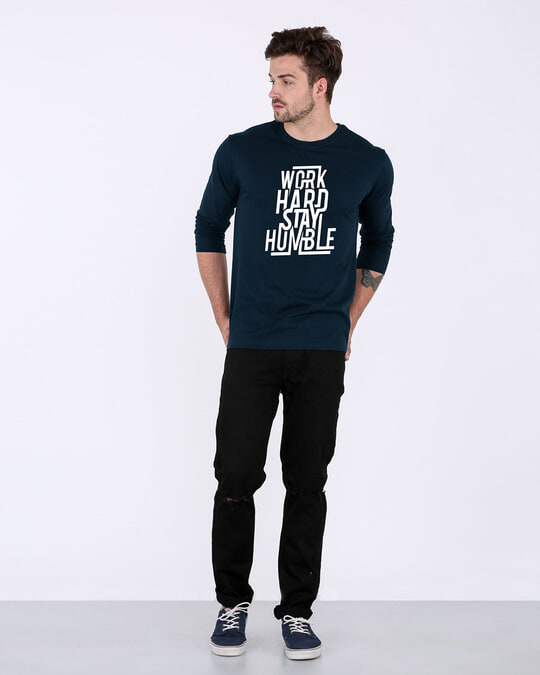 Shop Stay Humble Full Sleeve T-Shirt