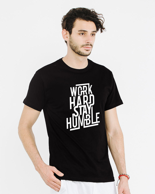 Shop Stay Humble Half Sleeve T-Shirt-Design