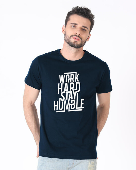 Shop Stay Humble Half Sleeve T-Shirt-Back