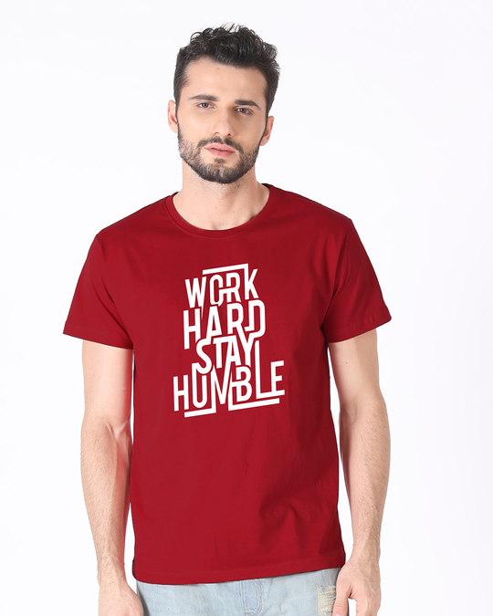 Shop Stay Humble Half Sleeve T-Shirt-Back