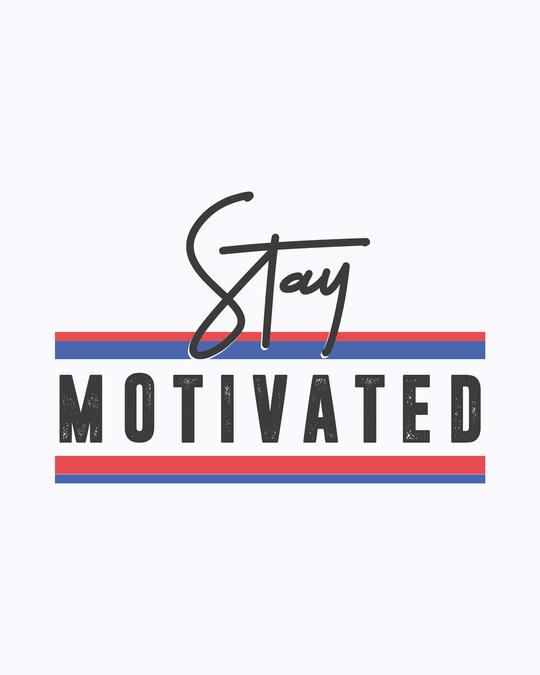 Shop Stay Motivated Stripe Boyfriend T-Shirt White