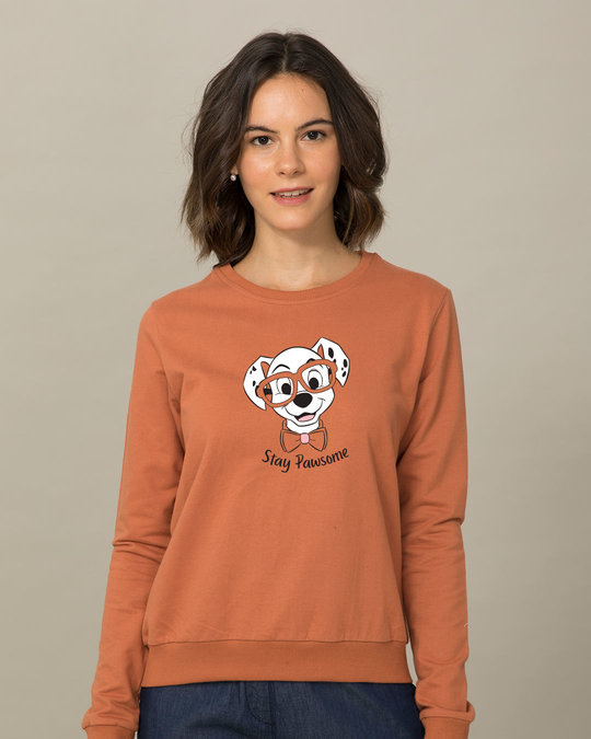 Shop Stay Pawsome (DL) Fleece Sweater-Front