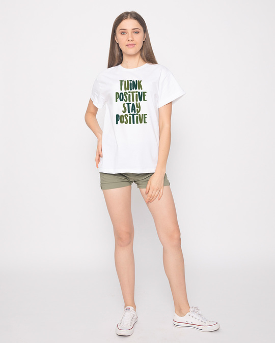 Shop Stay Positive Boyfriend T-Shirt