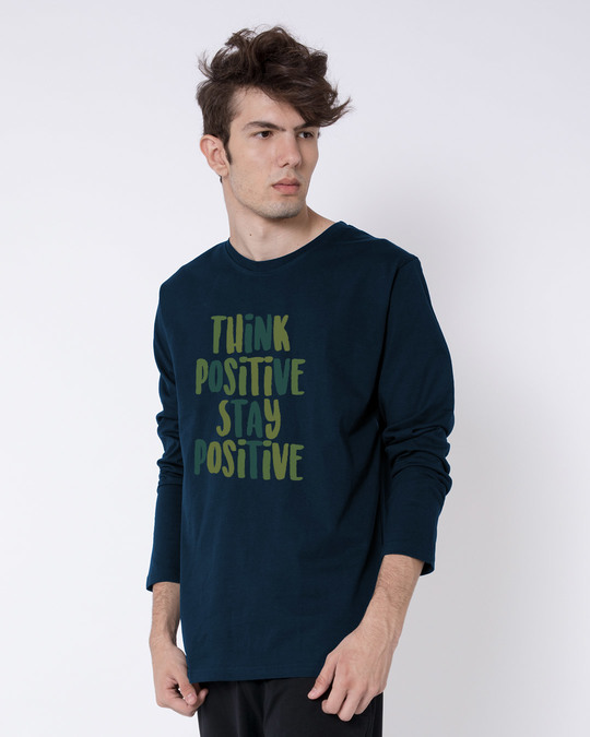 Shop Stay Positive Full Sleeve T-Shirt-Back
